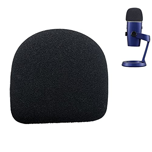 Yeti Nano Pop Filter Professional Mic Foam Windscreen Compatible with Blue Yeti Nano Condenser Microphone - Mic Cover that Filter Unwanted Recording Noises by TIKmobre