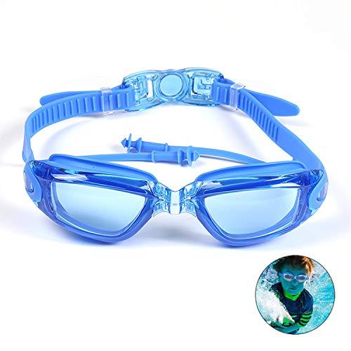 MICHETT Schwimmbrille Antibeschlag Schwimmbrillen UV Schutz mit Kostenloser Schutzbox Verstellbar Gurt Komfort Profi Schwimmbrillen für Erwachsene Jugendliche Unisex