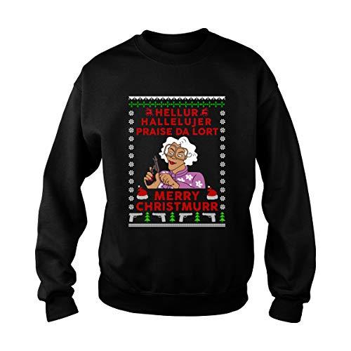 Madea Hellur Hallelujer Praise Da Lort Merry Christmurr Ugly Christmas Sweater T-Shirt