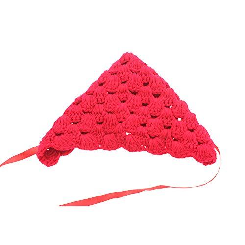 H2okp-009 baby-kerstgebreide bloemen-warme hoed-trekkoord-kap fotografie-steunen comfortabel