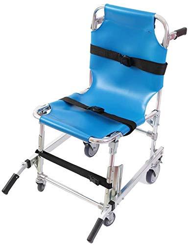 GJNVBDZSF Aluminium Leichter EMS Treppenstuhl Notfall Evakuierung Medical Lift Treppenstuhl mit Schnellverschluss, Blau