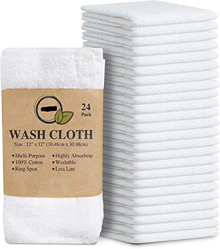 Simpli-Magic 79078 Linens, 12'x12', Washcloths, White,24