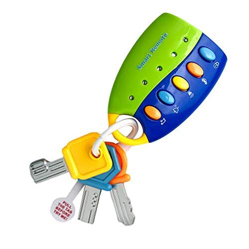 Risxffp Farbenfrohes, intelligentes Lernspielzeug für Babys, Funkautoschlüssel mit Tönen und Musik blau