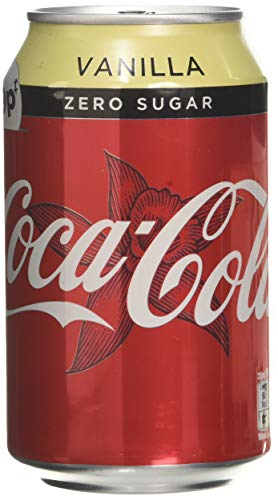 Coca Cola Zero Sugar Vanilla Cans, 330 ml Pack of 24