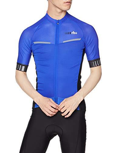 ZERORH+ Watt, Kleidung Man Bike Jersey Herren, Herren, ECU0700 89EL, Cobalt Blue/Black, L