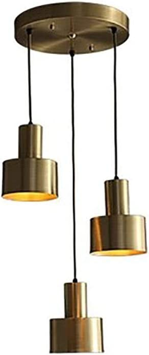 ADSIKOOJF Mid Century Brass Pendant Max 49% OFF At the price of surprise Industrial 3-Lights Light Ch