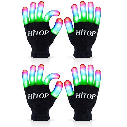 MAGIFIREFlashing Led Gloves,Birthday Party Supplies Favors Gifts for Boys Girls Kids,Cool Stuff Toys for 4 5 6 7 Year Old Boys,Glow in The Dark New Year Eve Party Supplies 2020(Kids - 2 Pairs)