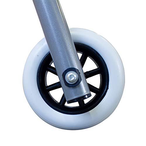 41xGXCyZefL - Andador de aluminio muy ligero, plegable y de fácil uso para adultos