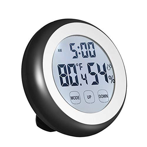 HYLH deg; C/deg; F Termoacute;Metro Digital Higroacute;Metro Temperatura Medidor Humedad Reloj Alarma Tecla taacute;ctil con retroiluminacioacute;n