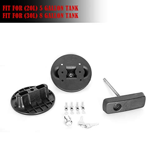 SXMA Pack Mount for 20L//5 Gallon Gasoline Pack Gas Container Mounting Bracket Kit Fuel Can Lock, 2pcs