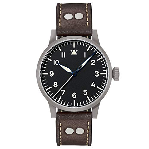 Laco 1925 861748 - Reloj analógico automático para Hombre, Correa de Cuero Color marrón