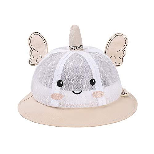 Sombrero para niños Verano Nueva versión Coreana de Lindo Hilo de Red de ángel Sombrero de Red para bebé de Dibujos Animados Protector Solar Sombrero para el Sol para niños