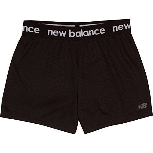 New Balance Big Girls' Athletic Shorts, Black2, 10/12