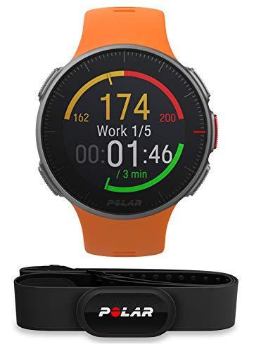 Polar Vantage V HR Profi-Multisportuhr mit GPS Pulsuhr, Orange, M/L, inkl. H10 Herzfrequenzsensor