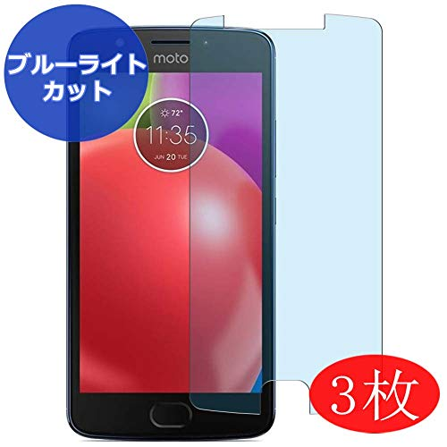 VacFun 3 Pezzi Anti Luce Blu Pellicola Protettiva per Motorola Moto E4 XT1762/XT1760/XT1763/XT1764/XT1766/XT1767/XT1768/XT176/XT1769, Screen Protector Protective Film (Non Vetro Temperato)