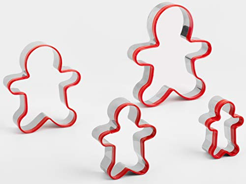 4Pcs Cookie Cutters, Gingerbread Cookie Cutter in 4 Sizes