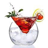 DXQDXQ Crystal Copas de Cocktail Transparente Triángulo Cóctel Cristal Cono Globular Set Margarita Cócteles Jugo Bebida Copas de Cóctel para una Fiesta de Cóctel en Casa Cristalería (Color : S)