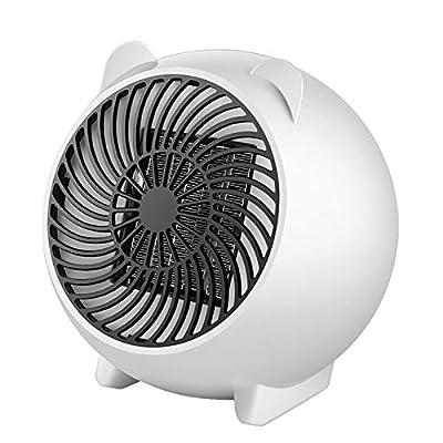 Space Heater, Fan Heater,Personal Mini Space Heater Portable Electric Heaters Fan White