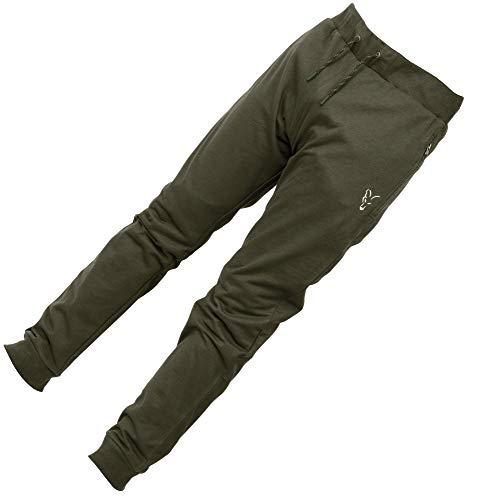Fox Collection Green/Silver LW Jogger - Hose für Angler, Angelhose für Karpfenangler, Jogginghose, Anglerhose zum Angeln, Größe:XXL