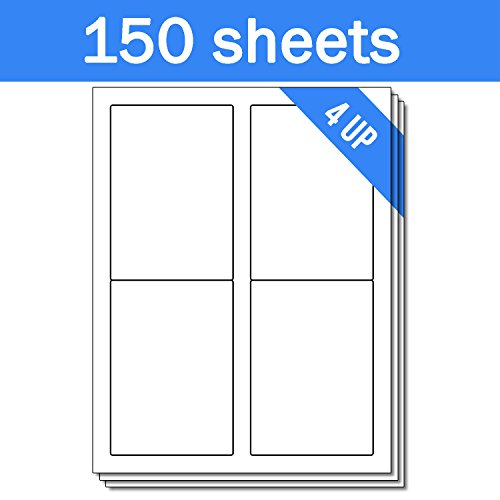 OfficeSmartLabels Rectangular 3-1/2 x 5 Shipping/Mailing Labels for Laser & Inkjet Printers, 3.5 x 5 Inch, 4 per Sheet, White, 600 Labels, 150 Sheets Photo #4