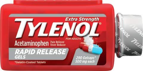 Tylenol Extra Strength Rapid Release Gels 500 mg (290 Count)