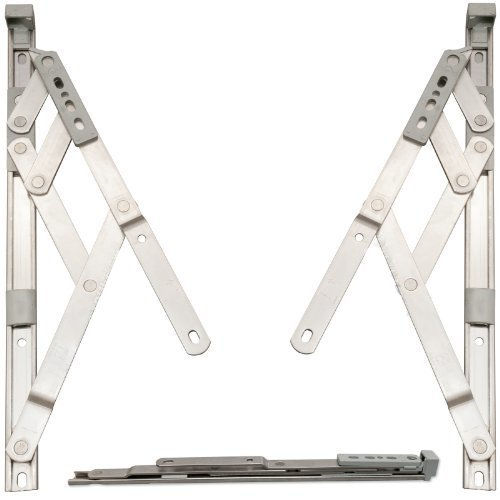 Pair of 13mm x 20' inch Top Hung Window Stays/Friction Hinges - Designed to Stay Open in Any Position Due to Friction, for uPVC or Aluminium profiled Windows (513mm).