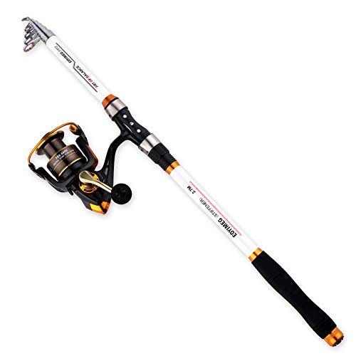 EOYIMEG Fishing Rod and Reel Combo, Medium Heavy Power Fishing Poles and reels Combo for Adults,TSS 5000 with Spining Reel for Saltwater Freshwater Catfish Bass Fishing