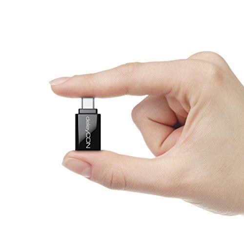 deleyCON USB C OTG Adapter - USB zu USB C - Für Handy Smartphone Tablet Laptop Chromebook Netbook - 2 Stück - Schwarz