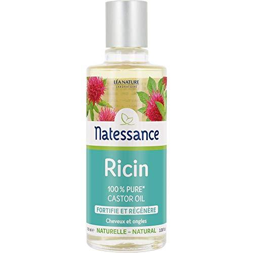 NATESSANCE Huile de Ricin 100% Pure Fortifie/Régénère