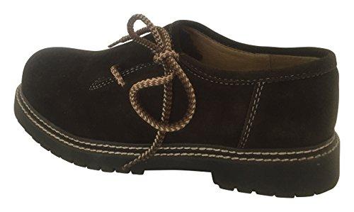 By Johanna Herren-Schnürschuhe Haferl-Schuhe.Wertige Rahmengenähte Echt-Leder-Schuhe unterstreicht das Outfit für Freizeit Trachten Jeans Anzug Lederhose oder Hochzeit perfekt.Haferl Dark Braun 46