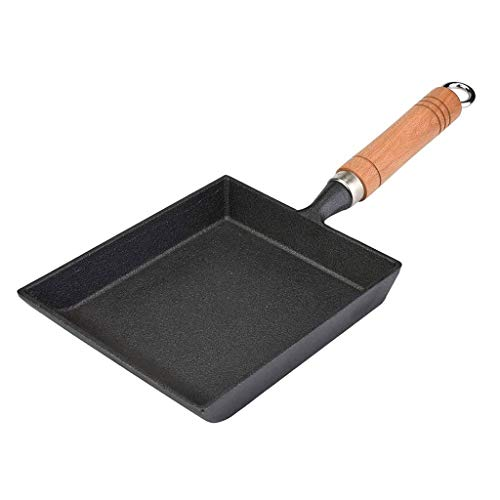SMEJS Noir Pan - antiadhésive Poêle et de cuisson en fonte Pan Omelette Pan Mini Batterie de cuisine
