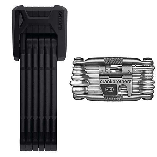 ABUS Bordo Granit X Plus 6500 85cm (33.46 in) Folding Bike Lock and Crank Brothers M19 Multi Bicycle Tool Kit