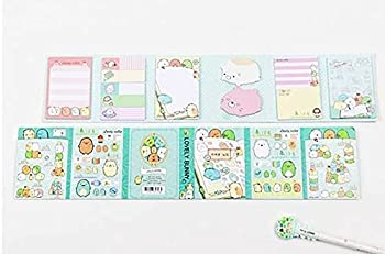 San-X Sumikko Gurashi Cute Animal Memo Pads Kawaii Sticky Notes Stickers Pads for Kids Index Posted It School Stationery Gift