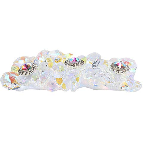 Apliques de cristal para zapatos con pedrería plateada de tamaño pequeño Apliques...