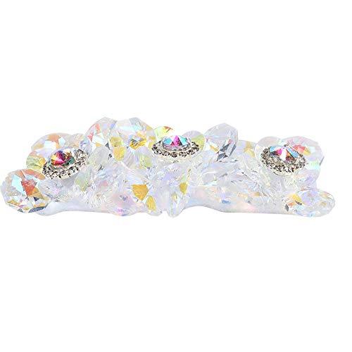 Apliques de cristal para zapatos con pedrería plateada de tamaño pequeño Apliques de cristal para decoración de vestidos de novia o ligas de tocados