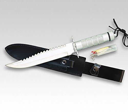Linder Couteau de survie Tanto pour adulte - Longueur de la lame : 22,7 cm - Multicolore - 35,3 cm