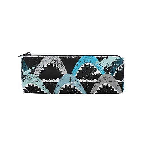 Grunge Modern Sharks Pattern Pencil Case Studenten Schreibwaren Aufbewahrungstasche Pen Organizer Reißverschlusstasche für Mädchen Teenager Kinder