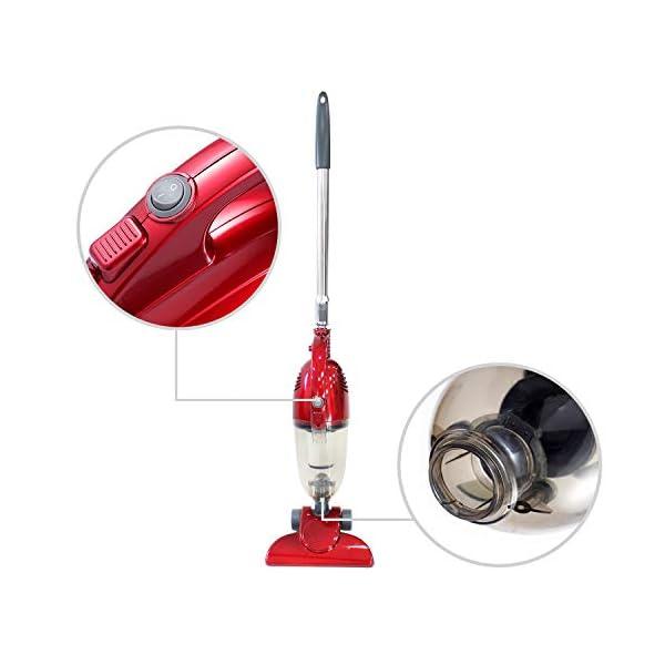 Potencia m/áxima: 800 W Aspiradora 2 en 1 Vertical y De Mano Rojo Capacidad del recipiente de polvo: 1,3 L Todeco Aspiradora 2 en 1