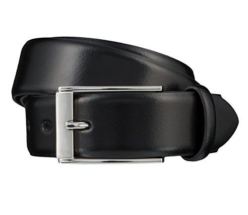 LLOYD Herren Leder Gürtel bombiert schwarz kürzbar 35 mm Herrengürtel Ledergürtel (80 cm)