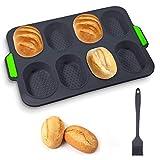 Bandeja Baguette 8 Rejillas Molde de silicona para pan Bandeja para...
