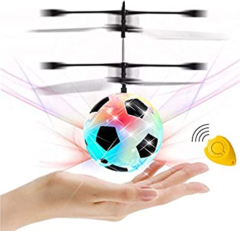 GreaSmart Flying Ball Kids Soccer Toys Hand Control Helicopter Light Up Ball Mini Drone Magic RC Toys Kids Holiday Toy Birthday Gifts for Boys Girls Ages 6+ Outdoor Sport Ball Game Toy Fun Gadget