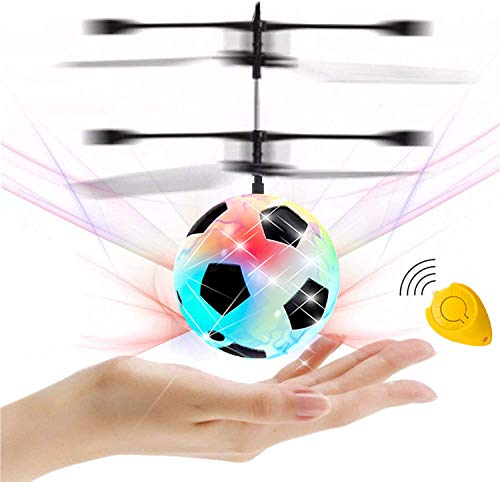 GreaSmart Flying Ball, Kids Soccer Toys Hand Control Helicopter Light Up Ball Mini Drone Magic RC Toys Kids Holiday Toy Birthday Gifts for Boys Girls Ages 6+ Outdoor Sport Ball Game Toy Fun Gadget