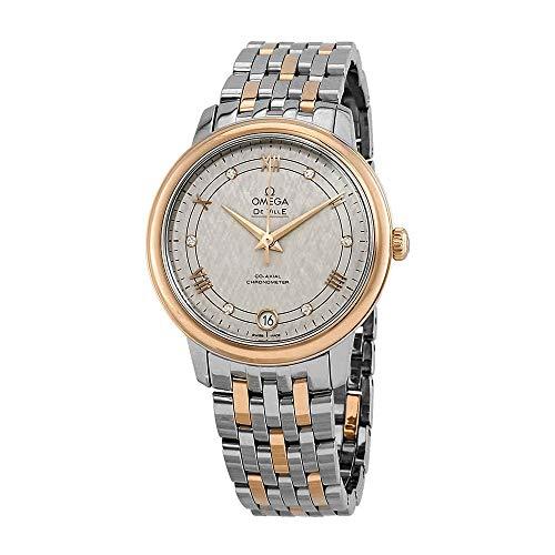 Omega De Ville - Reloj automático para Mujer, Color Marfil y Plateado