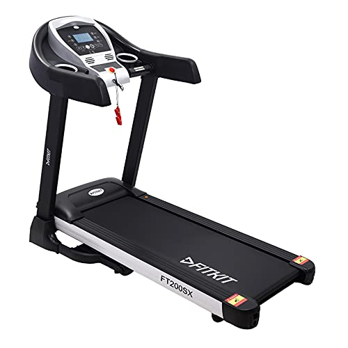 Fitkit FT200SX 2.25HP (4.5HP Peak) DC-MotorisedTreadmill ( Max Speed:14km/hr, Max Weight: 110 Kg ) With Free home installation and Free Diet & Fitness Plan