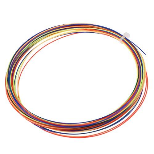 F Fityle Carrete de Cuerdas de Raqueta de Bádminton/Tenis para Jugadores Profesionales - 10 M / 33 Pies, Reemplazo de Reparación de Cuerdas de Entrenamiento - Arco Iris