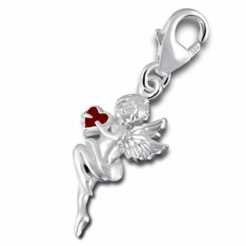 FIVE-D Charm Engel mit Herz Elfe Amor 925 Sterling Silber im Schmucketui Armband Anhänger Bettelarmband