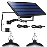 Shed Solar Luces de Split Patio de la lámpara Led luz Colgante Colgante Lámpara Impermeable para entradas Yardas Garajes para Patio Jardín Patio Corredor Negro