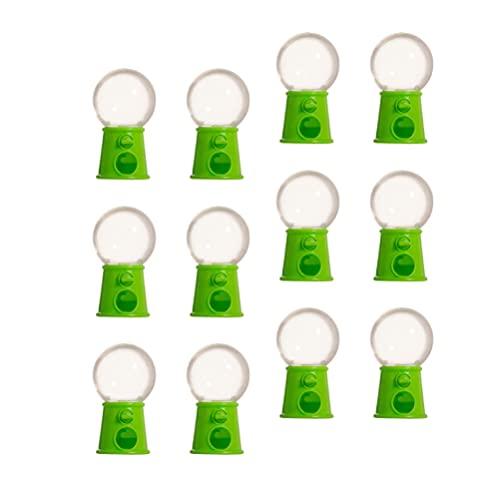 Kisangel 12 Piezas Mini Máquina de Caramelos Máquinas de Goma de Mascar Dispensador de Burbujas Banco de Monedas para Niños Dispensador de Dulces Juguetes para Niños Suministros para