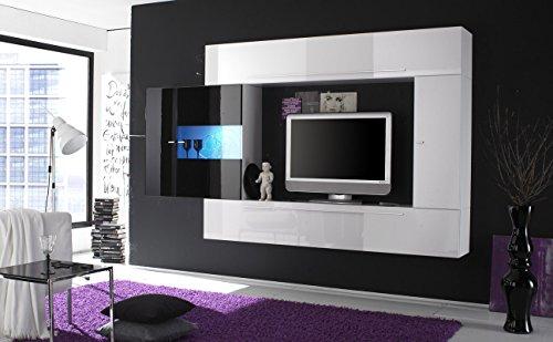 Web Convenienza Primo 8 Nero Parete Attrezzata Soggiorno Moderna Porta TV