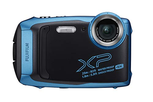 Fujifilm FinePix XP140 - Cámara Digital Compacta, Color Azul Claro